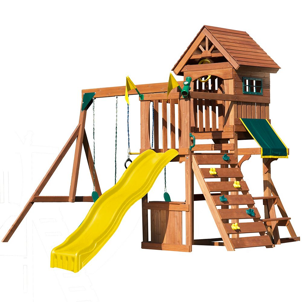 Swing-N-Slide Jamboree Fort Wood Complete Playset