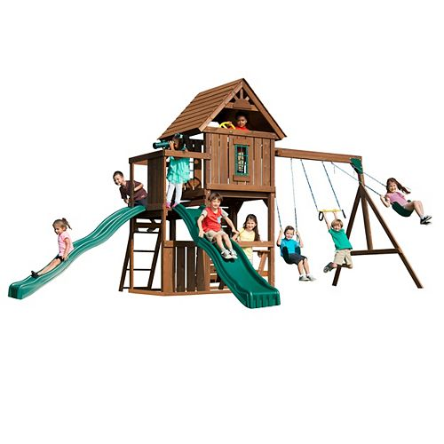 Monteagle Wood Complete Playground Set
