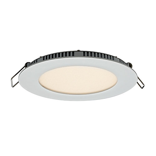 4-inch Recessed Round LED Panel Light in White Finish with Integrated Colour Select (3000K 4000K or 5000K) - ENERGY STAR®