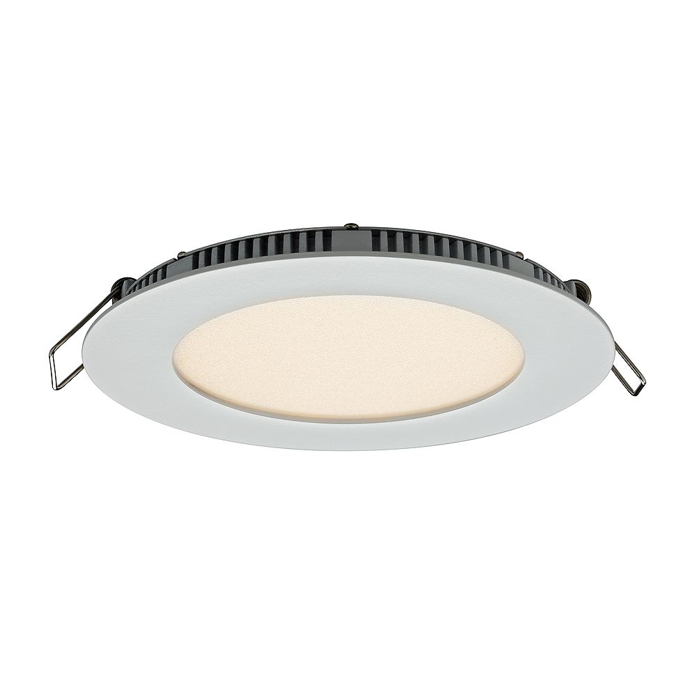 Illume 4-inch Recessed Round LED Panel Light in White Finish with Integrated Colour Select (3000K 4000K or 5000K) - ENERGY STAR®