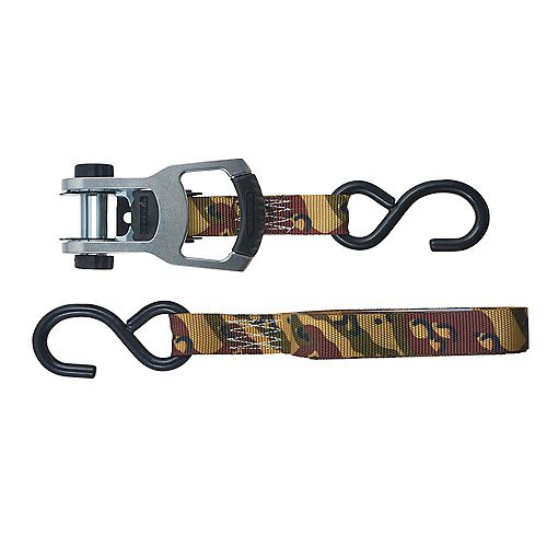 KEEPER Tie-Down,12 ft.,Desert Camo, 550 WLL,  2Pk Aluminum Ratchet