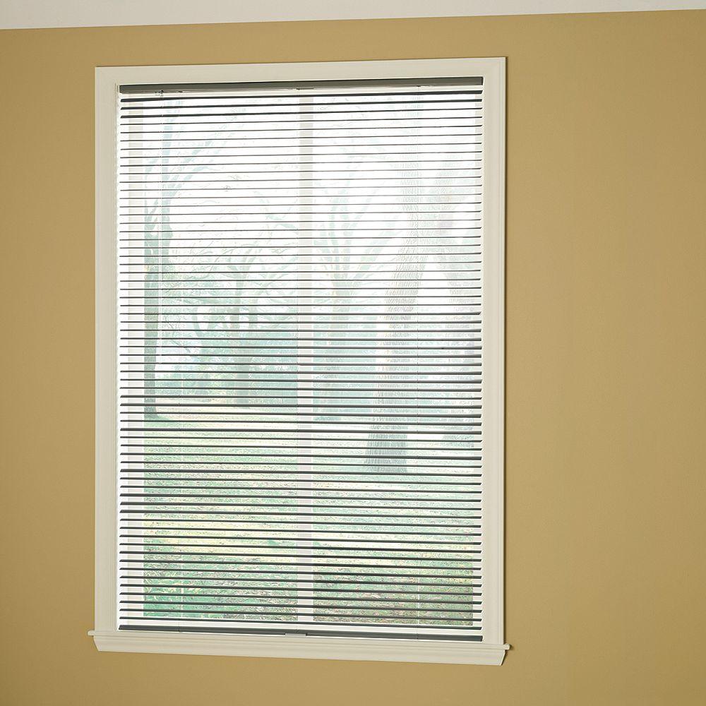Hampton Bay 48-inch W x 48-inch L, 1 3/8-inch Room Darkening Cordless Vinyl Blinds in Grey
