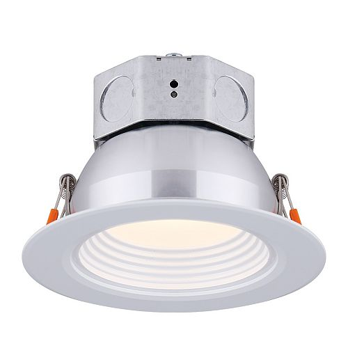 Canarm 4 inch LED White Stepped Baffle Recessed Round Downlight - ENERGY STAR®