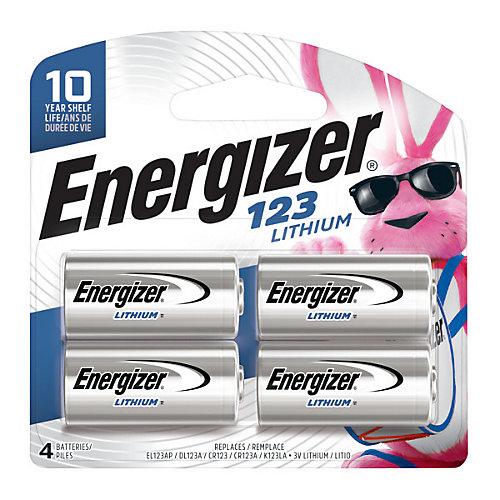 Energizer 123 Batteries, 4 Pack