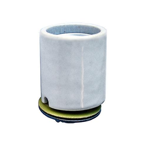 Keyless Porcelain Medium Base Socket, with gasket and Cap