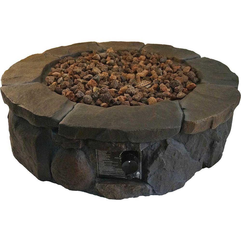 Bond Round Faux Rock Fire Pit