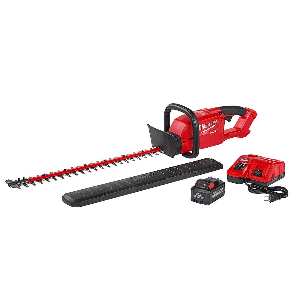 Milwaukee Tool M18 FUEL 18V Lithium-Ion Brushless Cordless Hedge Trimmer Kit w/ 8.0Ah Battery and Rapid Charger