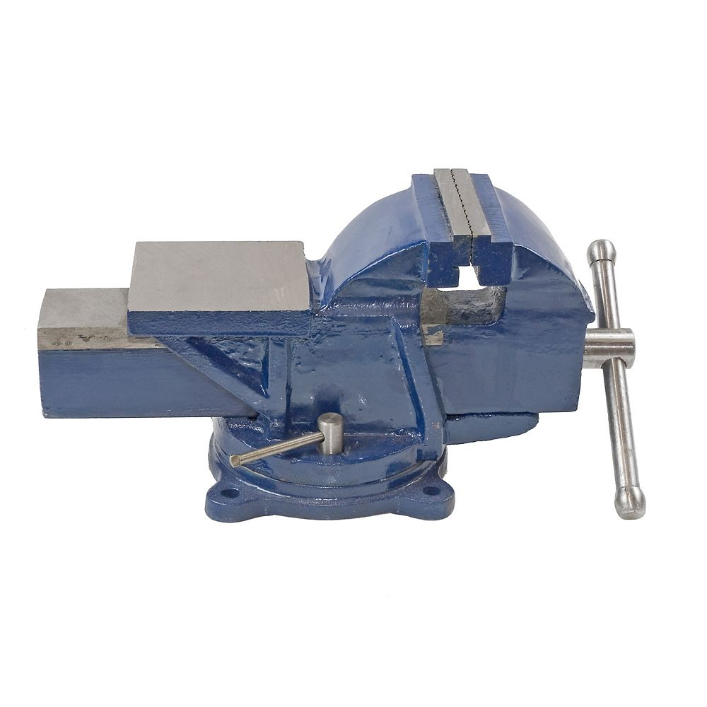 Firm Grip 5 Inch Bench Vise with Swivel Base