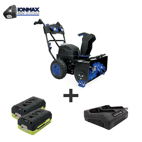 Ion 80V Max 6.0 Ah Cordless Self-Propelled (Two-Stage) Snowblower W/ Dual Port Charger