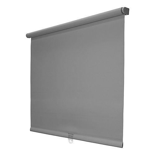 """Store à rouleau solaire sans fil à 5% d'ouverture 37 """"x72"""", gris"""
