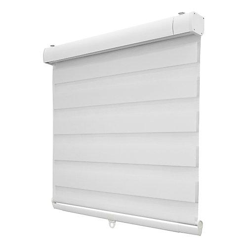 Store à enroulement zèbre blanc, filtres de lumière, tailée sur mesures de 46 po de 72 po
