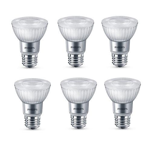 50W Equivalent Bright White Glass PAR20 LED Light Bulb ENERGY STAR (6-Pack)