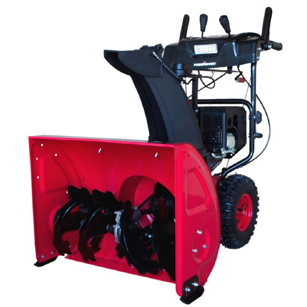 PowerSmart 27-inch 212cc 2-Stage Electric Start Snowblower with Light