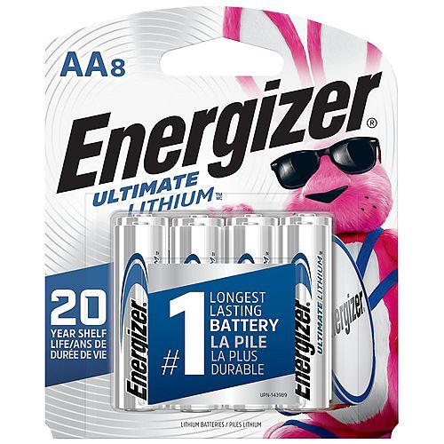 Ultimate Lithium AA Batteries, 8 Pack