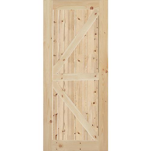 K-Style Knotty Pine Interior Door Slab