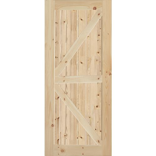 K-Style Knotty Pine Interior Door Slab