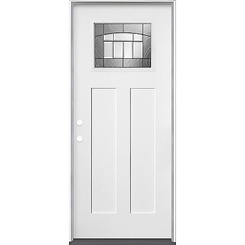 34-inch x 80-inch x 4-9/16-inch Croxley Craftsman Smooth Fiberglass Right-Hand Entry Door - ENERGY STAR