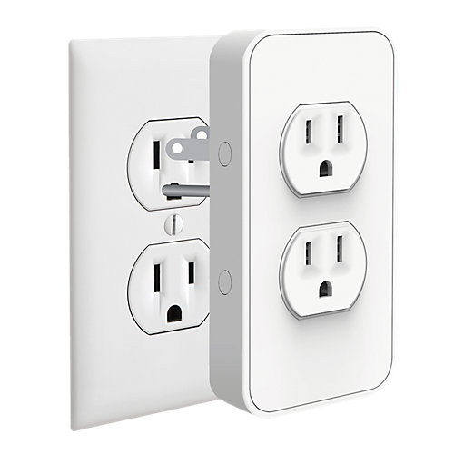 Power Voice Activated Wire-Free Smart Outlet with Built-In USB Chargers