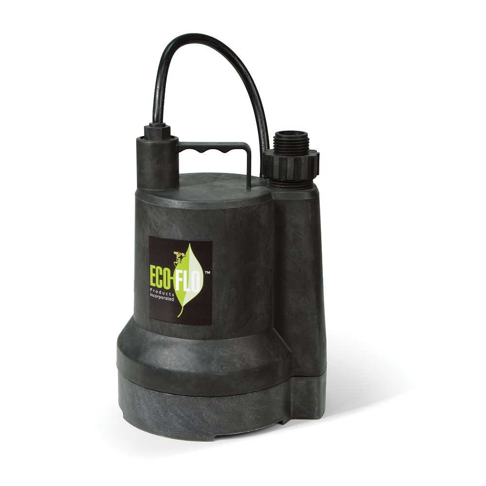 ECOFLO Submersible Utility Pump, 1/6HP