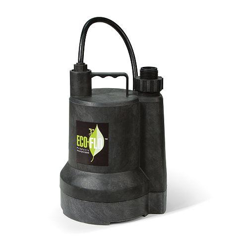 Pompe utilitaire submersible de 1/6HP
