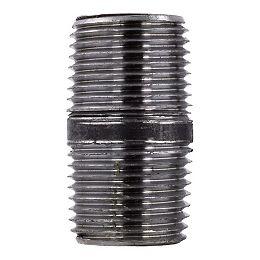 Black Steel Pipe Nipple 1/2 inch x 1 1/2 inch