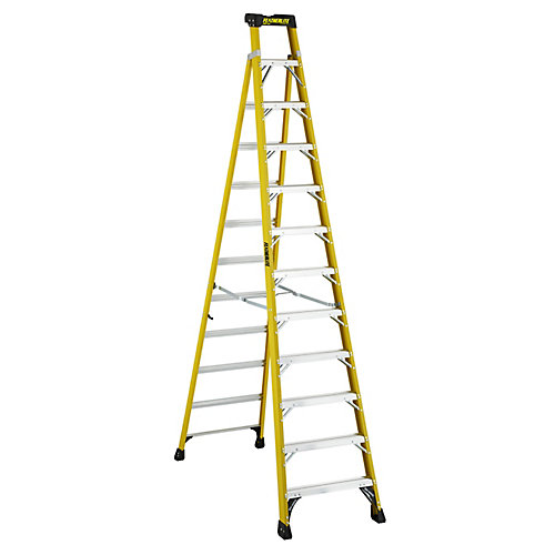 12  Feet fibreglass Cross Step Ladder with 300 lb. Load Capacity Type IA Duty Rating