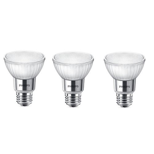 5.5W=50W Soft White Warm Glow PAR20 Dimmable LED Light Bulb (3-pack)