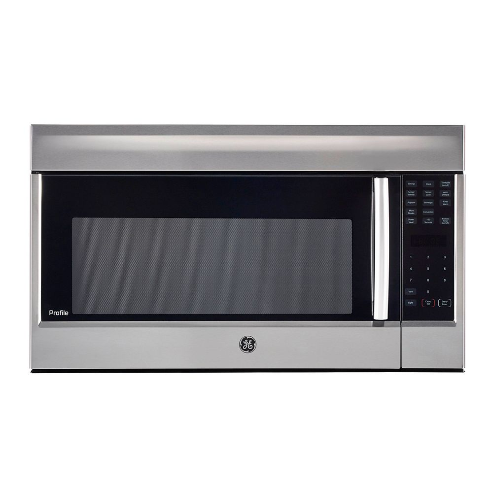 GE Profile 30-inch W 1.8 CF OTR Convection Microwave in Stainless Steel