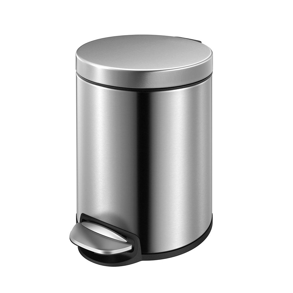 HDX 5L Stainless Steel Step Trash Can