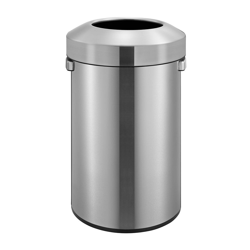 HDX Open Top Stainless Steel Commercial Trash Can