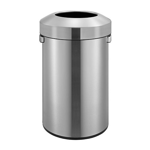 Open Top Stainless Steel Commercial Trash Can