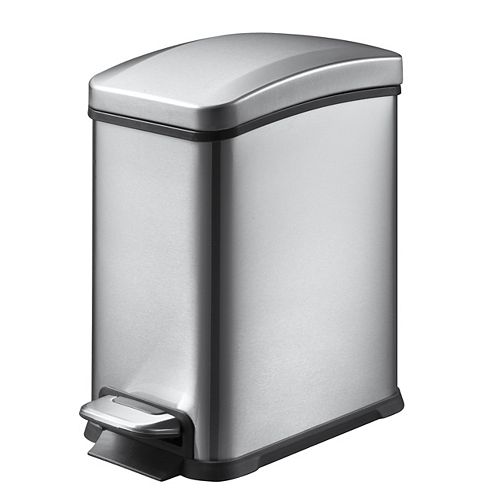 HDX 8L Stainless Steel Step Trash Can
