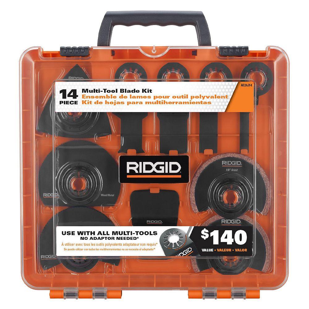 RIDGID JobMax Kit d'accessoires pour lames multi-outils oscillantes JobMax (14 pièces)