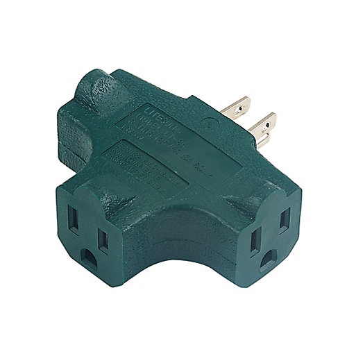 3-Outlet T-Tap Grounding Adapter