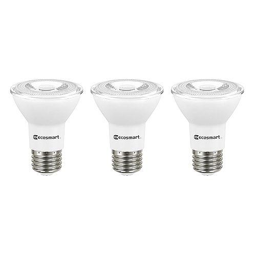 Ecosmart AMPOULE DEL PAR20 ECS 6.5W (50W) à intensité réglable 5000K ES 3paquet- ENERGY STAR®