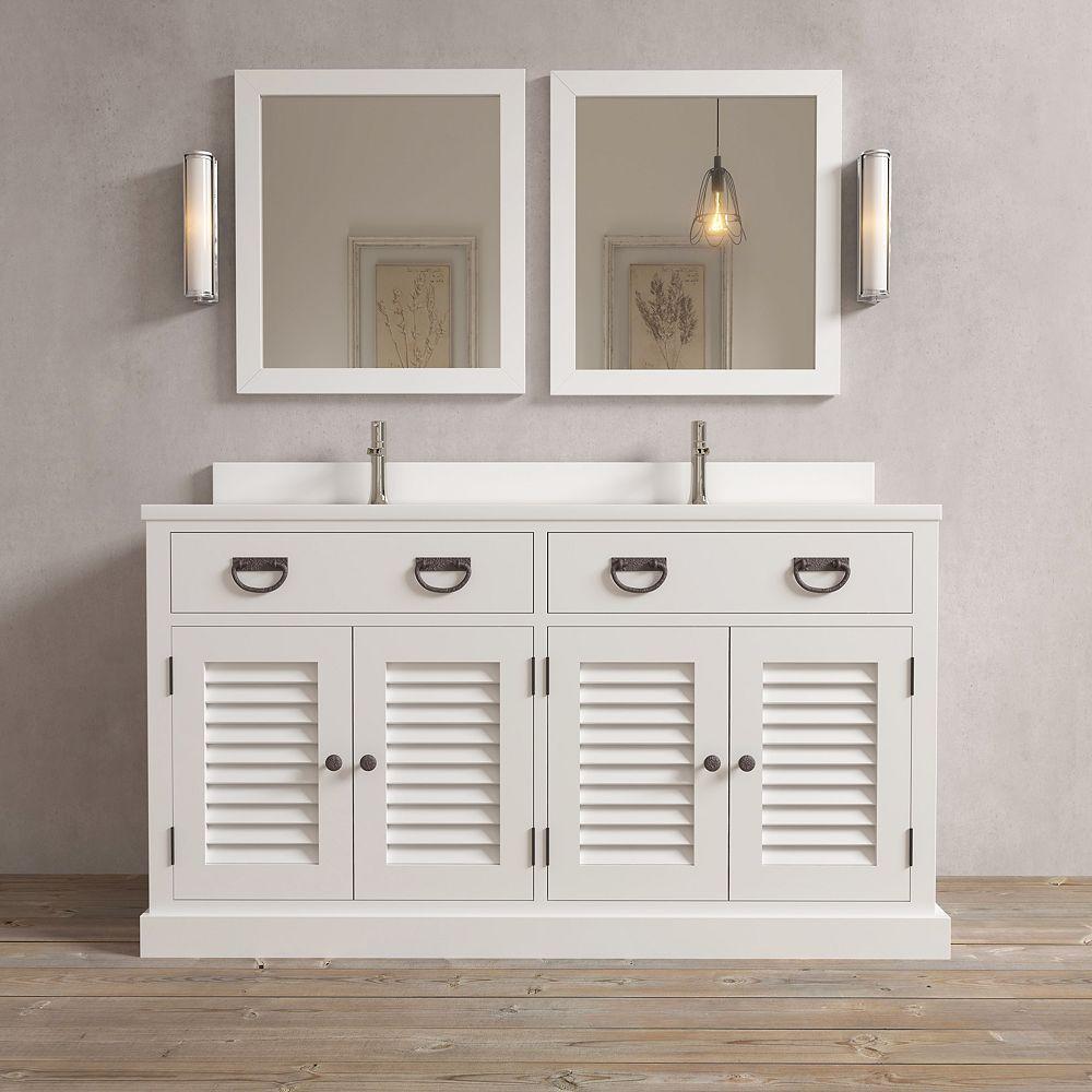 URBAN WOODCRAFT Amalfi 63 Inch Double Vanity White