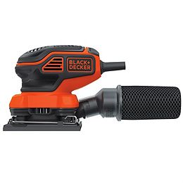 2 Amp Corded 1/4 Sheet Orbital Sander with Paddle Switch Actuation