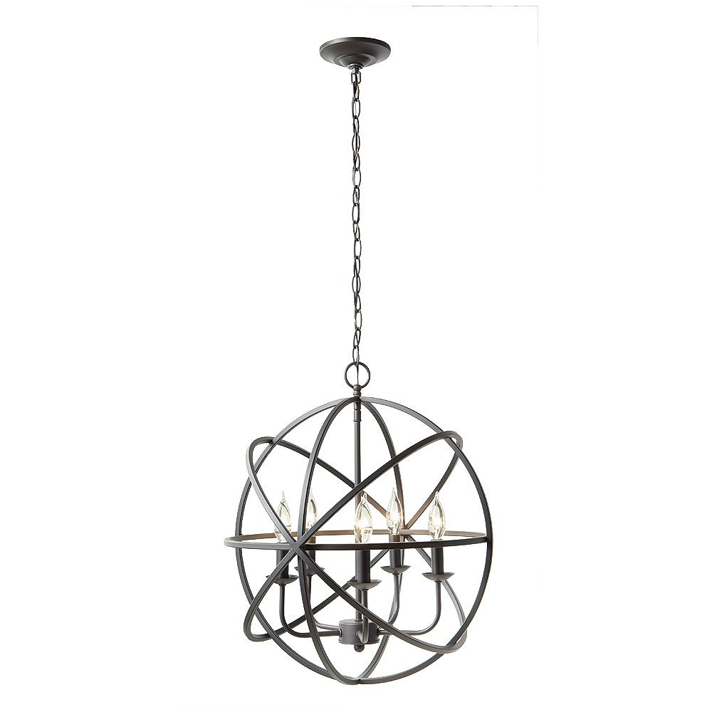 Home Decorators Collection 5 Light Chandelier The Home Depot Canada
