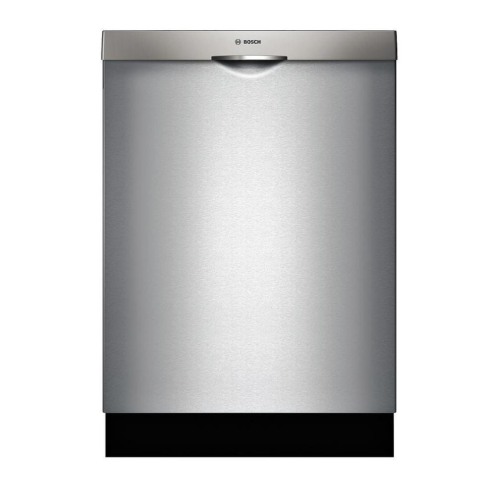 Bosch 300 Series 24-inch Top Control Dishwasher in Stainless Steel, 3rd Rack, 44dBA ENERGY STAR®.