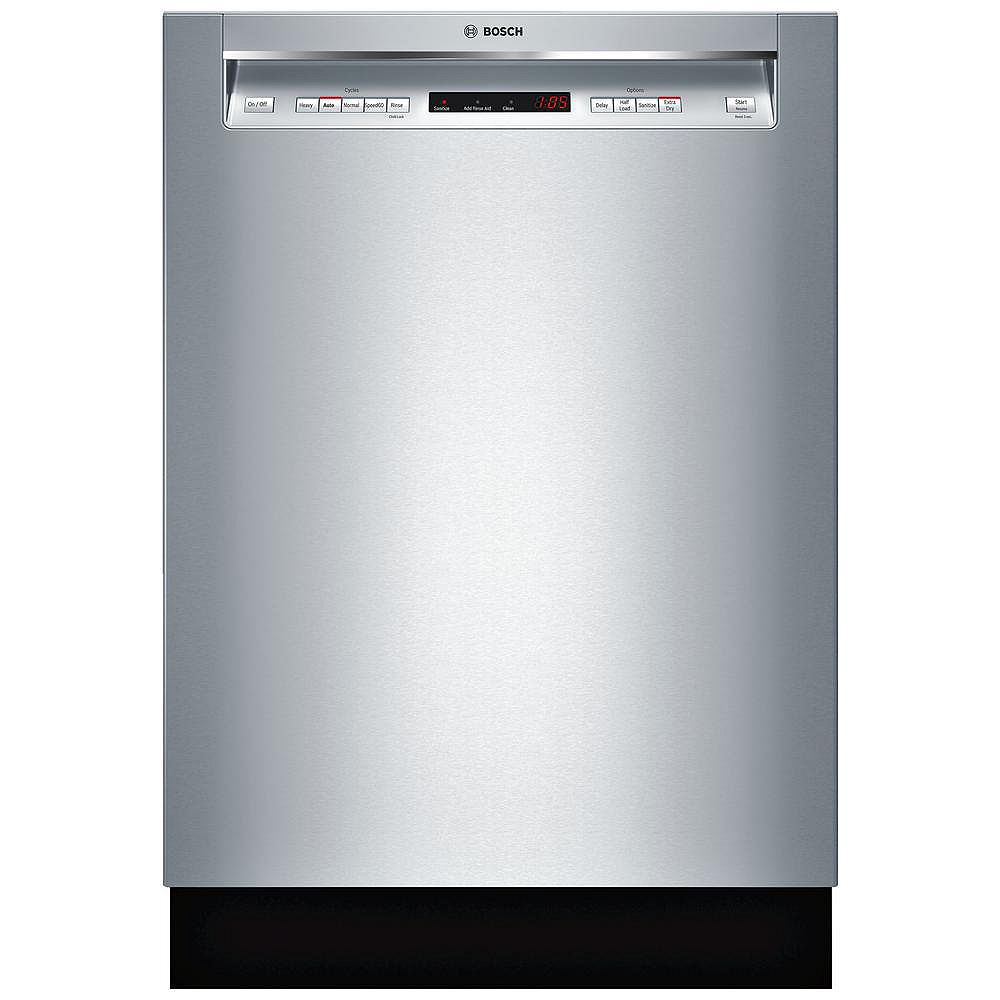 Bosch 300 Series 24-inch Front Control  Dishwasher in Stainless Steel, 3rd Rack, 44dBA