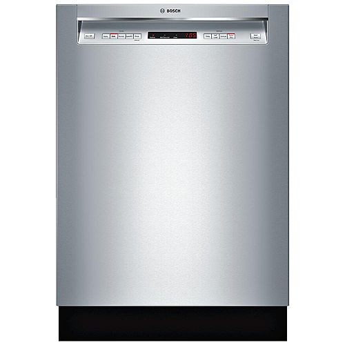 Bosch 300 Series 24-inch Front Control  Dishwasher in Stainless Steel, 3rd Rack, 44dBA ENERGY STAR®