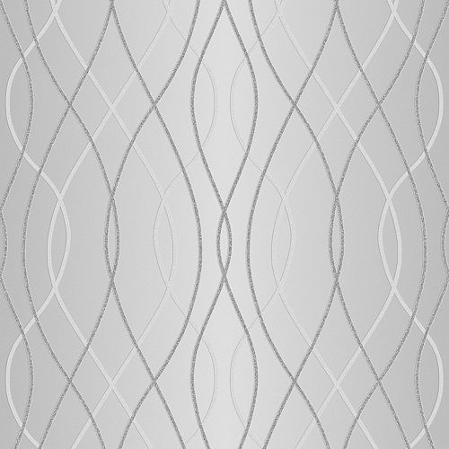 Manhattan Grey/Silver Wallpaper