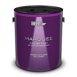 Interior Flat Ceiling Paint with Primer, 3.79 L