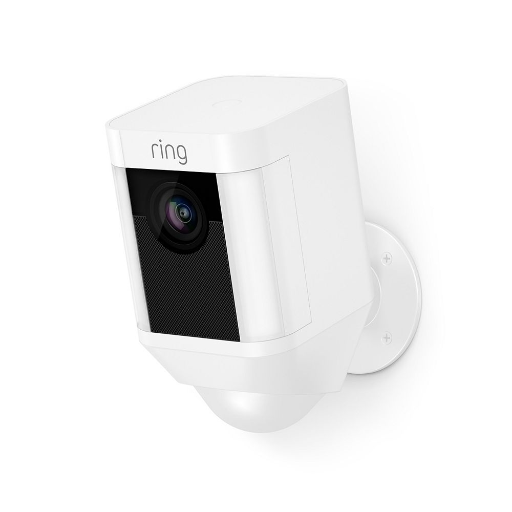 Ring Spotlight Security Camera in White (Battery Operated)