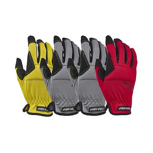 High Performance Synthetic Leather Large Utility Gloves (4-Pack)