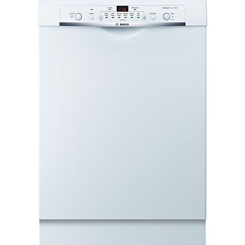 Bosch Ascenta 24-inch Front Control  Dishwasher in White, 50dBA ENERGY STAR®