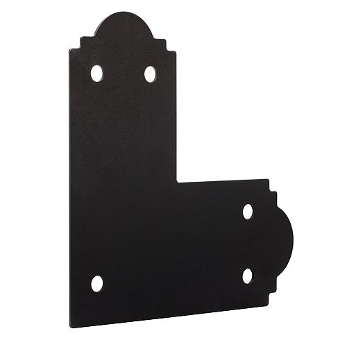 Simpson Strong-Tie Outdoor Accents ZMAX Galvanized, Black Powder-Coated Flat L Strap for 6x6