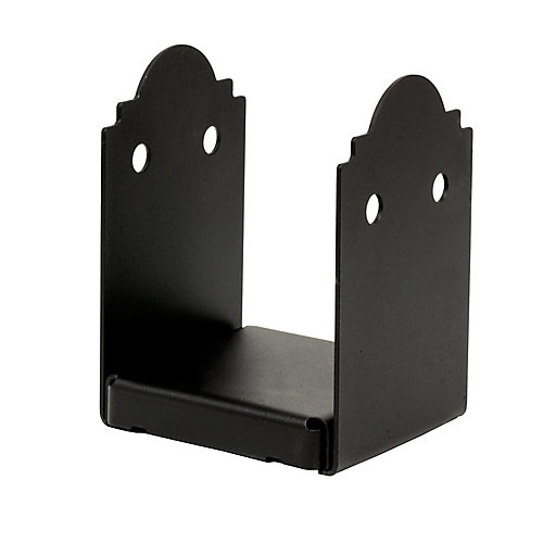 Outdoor Accents ZMAX Galvanized, Black Powder-Coated Post Base for 6x6
