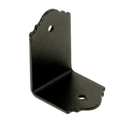 Outdoor Accents ZMAX Galvanized, Black Powder-Coated 90° Angle for 2x