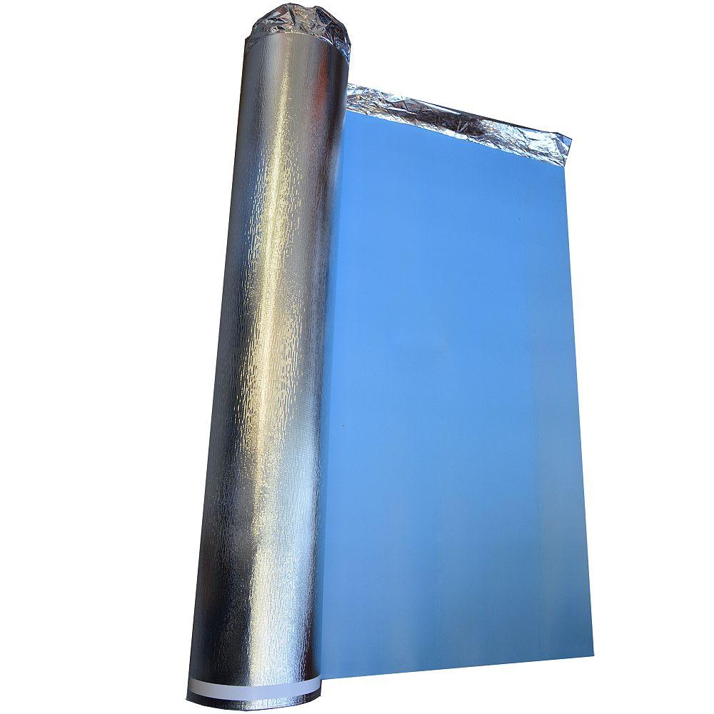 Thermoquiet 46,46 m2.  1,22 m x 38,1 m x 3,2 mm 5 en 1 Sous-couche Isolée Thermique Acoustique